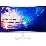 Samsung - C27F581 - Ecran Incurvé - Dalle VA - 27 Pouces - (1920 x 1080, 16:9, 1 port HDMI) - Blanc Brillant