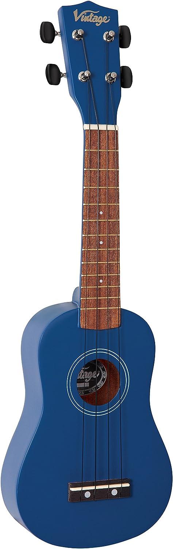 Vintage VUK15BL Soprano Ukul/él/é Bleu