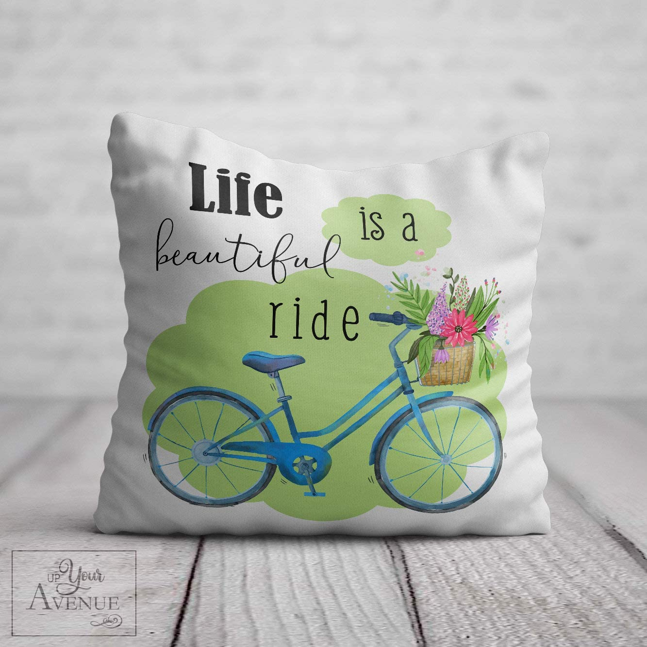 Beautiful Ride Bicycle Pillow Cover