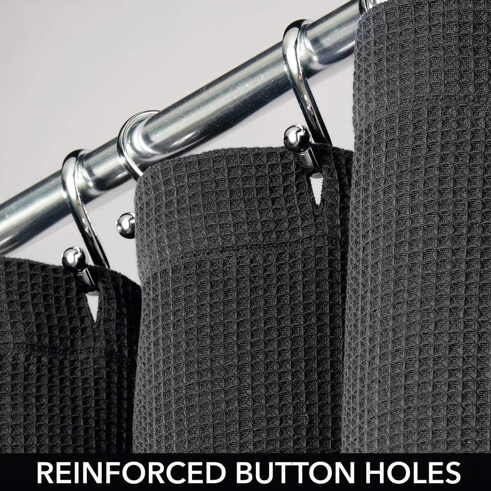 Marrone Scuro Tende Bagno 100/% Cotone con Disegno a Nido dApe Tende per Doccia morbide e di Facile Manutenzione mDesign Tenda per Vasca da Bagno di Alta qualit/à
