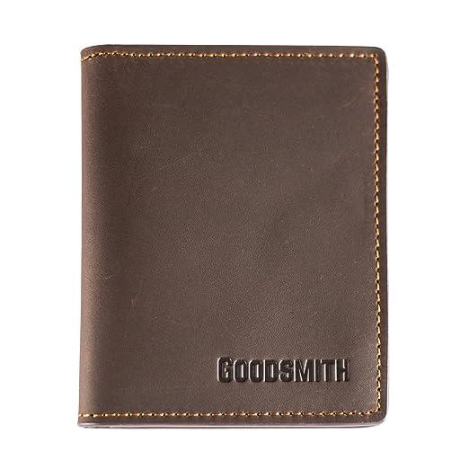 3d90ff01223be Leder Mini Geldbeutel von Goodsmith wie Geldscheinklammer für Karten und  Scheine somit klein Flach handlich (
