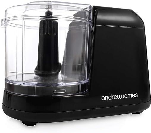 Andrew James Food Chopper Mini For Fruit Veg Herbs Baby Food Compact Blender Mixer Machine 400ml Blender Bowl Dishwasher Safe Stainless Steel