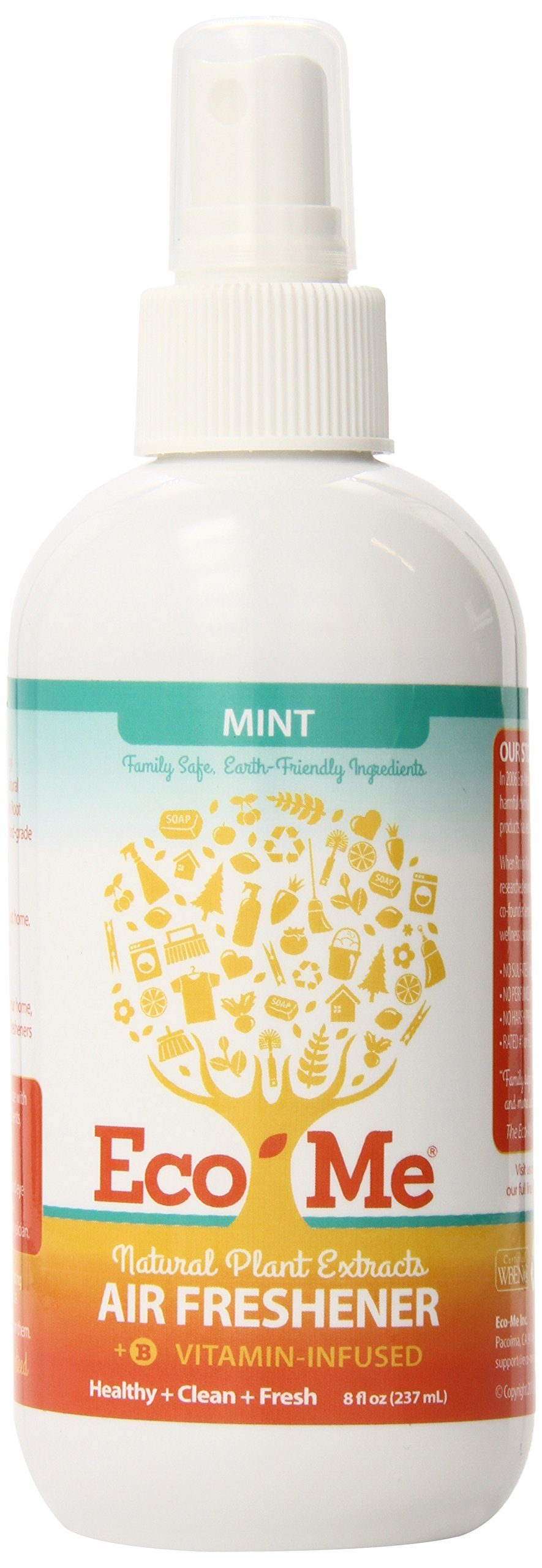Eco-Me Natural Air Freshener, Vitamin-Infused Mint Scent, 8 Ounce
