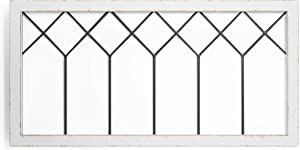 Barnyard Designs Rustic Cathedral Window Frame, Decorative Wood and Metal Window Pane Wall Art, Vintage Farmhouse French Country Home Decor, White, 39