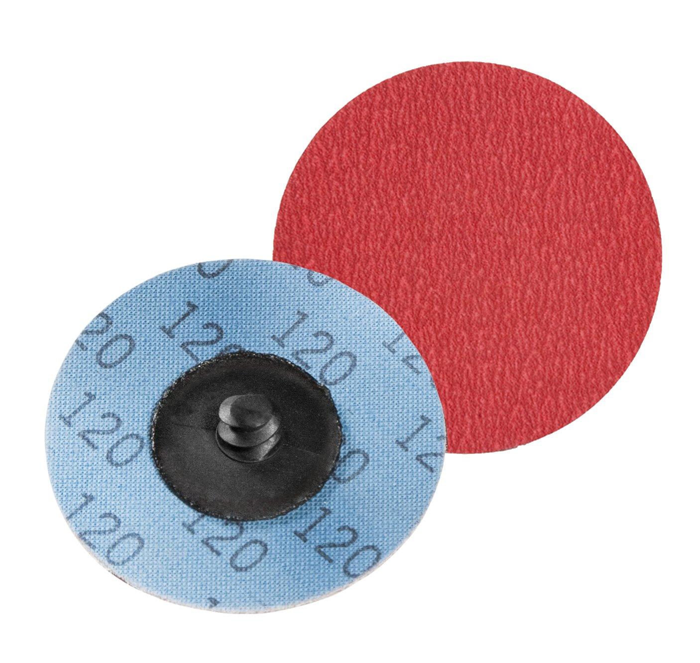 Type R VSM 148880 2 Quick Change Disc VSM Abrasives Co. Series XK870X Roll On Pack of 25 Ceramic 60G