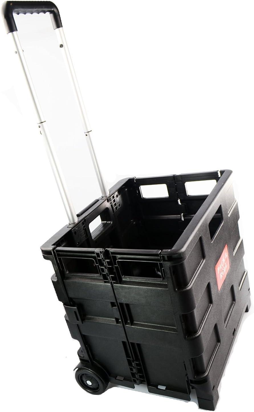 ASAB - Caja Multiusos Plegable con asa y Ruedas, Carro para la Compra, Cesta de Almacenamiento Resistente: Amazon.es: Hogar