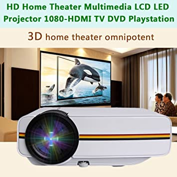Proyector de vídeo Profesional YG400 1200 LM HD LED Videoproyector ...