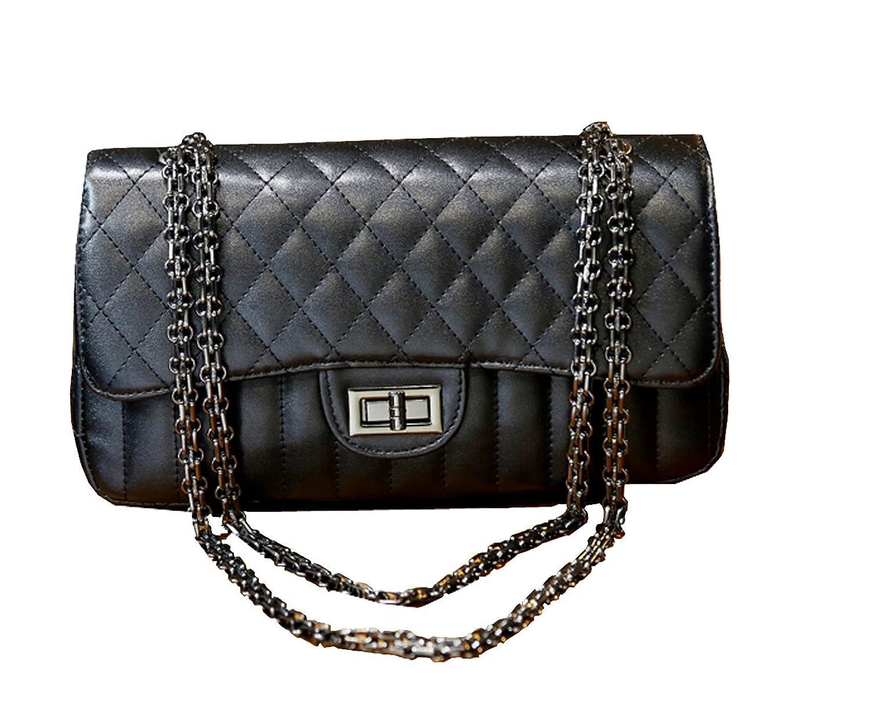 2016 New design girl bag clutches top handle bag cross-body bag tote bag satchels PU leather bag (black)
