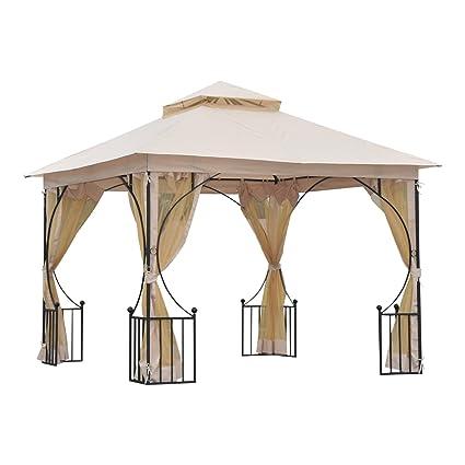 Beau Outsunny 10u0027 X 10u0027 Steel Outdoor Garden Patio Gazebo Canopy Mosquito Netting  Walls