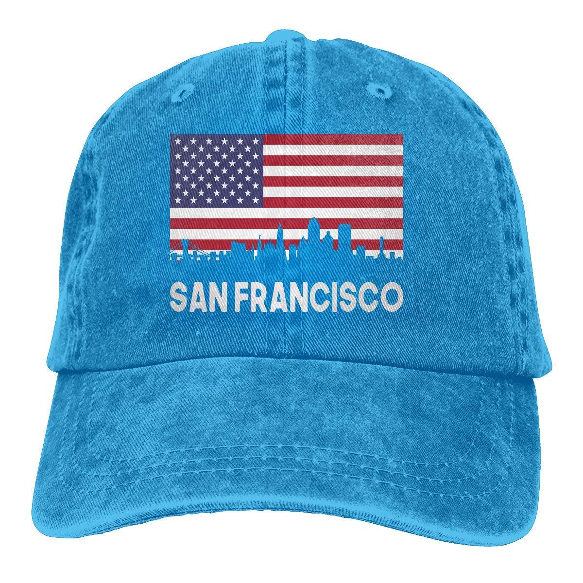 tyui7 San Francisco Ca Bandera Americana Skyline Hombres Jeans ...