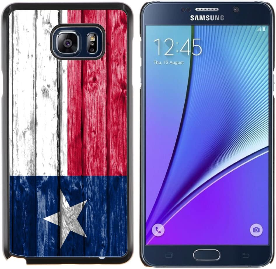 FJCases Texas The Lone Star State Bandera con Patrón de Madera Carcasa Funda Rigida para Samsung Galaxy Note 5: Amazon.es: Electrónica