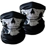 Multifunktions-Maskenschal Halsumfang 10 in 1 Totenkopf