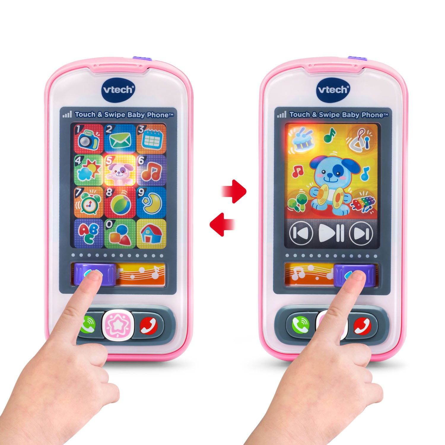 VTech Touch and Swipe Baby Phone, Pink by VTech (Image #3)