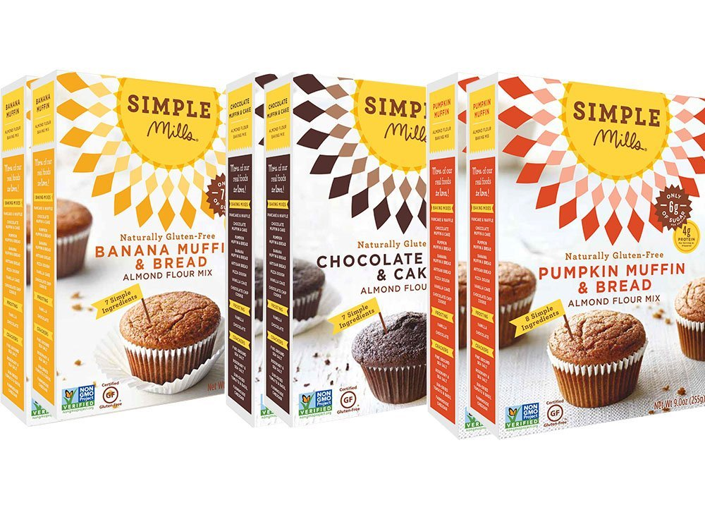 Simple Mills Almond Flour Mix Variety Pack, Banana Muffin & Bread, Chocolate Muffin & Cake, Pumpkin Muffin & Bread, 10.4 oz, 6 count by Simple Mills