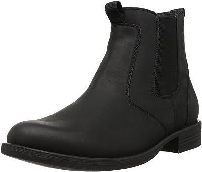 Men's Black Leather Horse Riding Boots [Eastland] Picture
