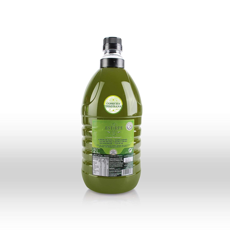 Aceite de Oliva Virgen Extra Premium Estirpe Sin Filtrar -Cosecha Temprana- (1 Garrafa de 2 Litros)