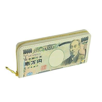 2d24327318c3 財布 メンズ レディース ラウンドファスナー 紙幣 マネープリント 長財布 10000円柄
