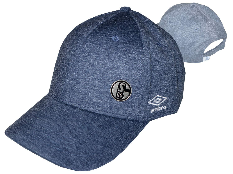 Umbro FC Schalke 04 Casquette en Jersey m/élang/é Bleu S04 Fan Basecap Football