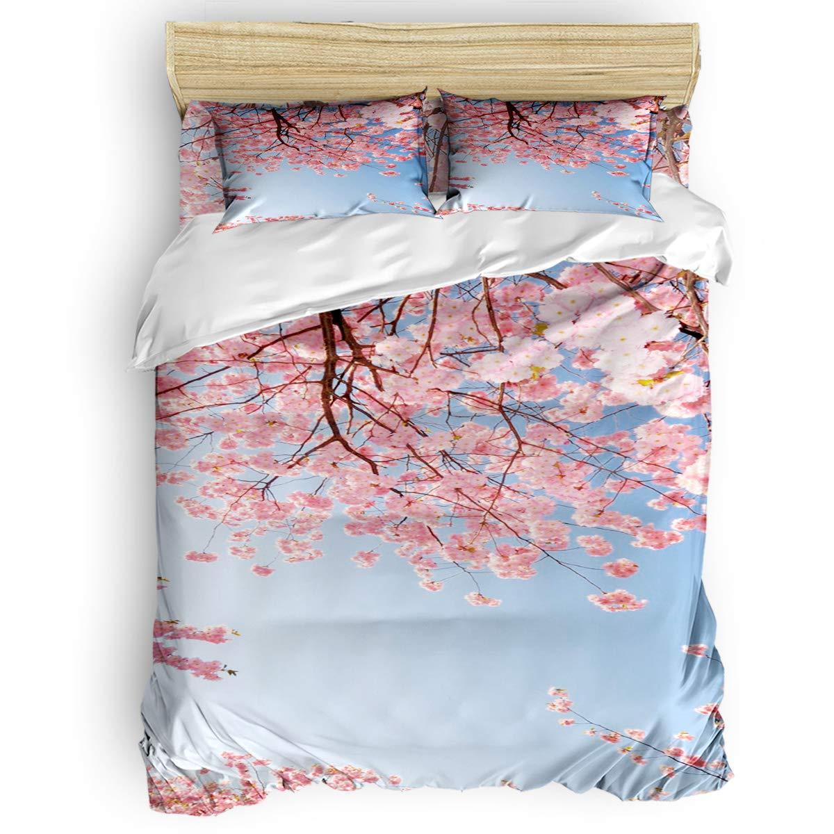 掛け布団カバー 4点セット ファンタジー蓮 寝具カバーセット ベッド用 べッドシーツ 枕カバー 洋式 和式兼用 布団カバー 肌に優しい 羽毛布団セット 100%ポリエステル キング B07TG97YKV Flower19LAS9869 キング