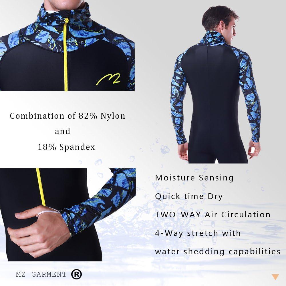 Rash Guard UPF 50 UV Sunprotection for Men Women Lycra Full Body Diving Suit Full Wetsuit Breathable Sports Dive Skins for Running Snorkeling Swimming Kayaking