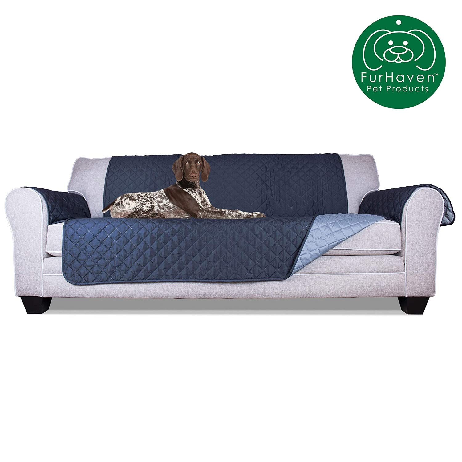 Brilliant Furhaven Pet Furniture Cover Two Tone Reversible Water Resistant Quilted Living Room Furniture Cover Protector Pet Bed For Dogs Cats Available Machost Co Dining Chair Design Ideas Machostcouk