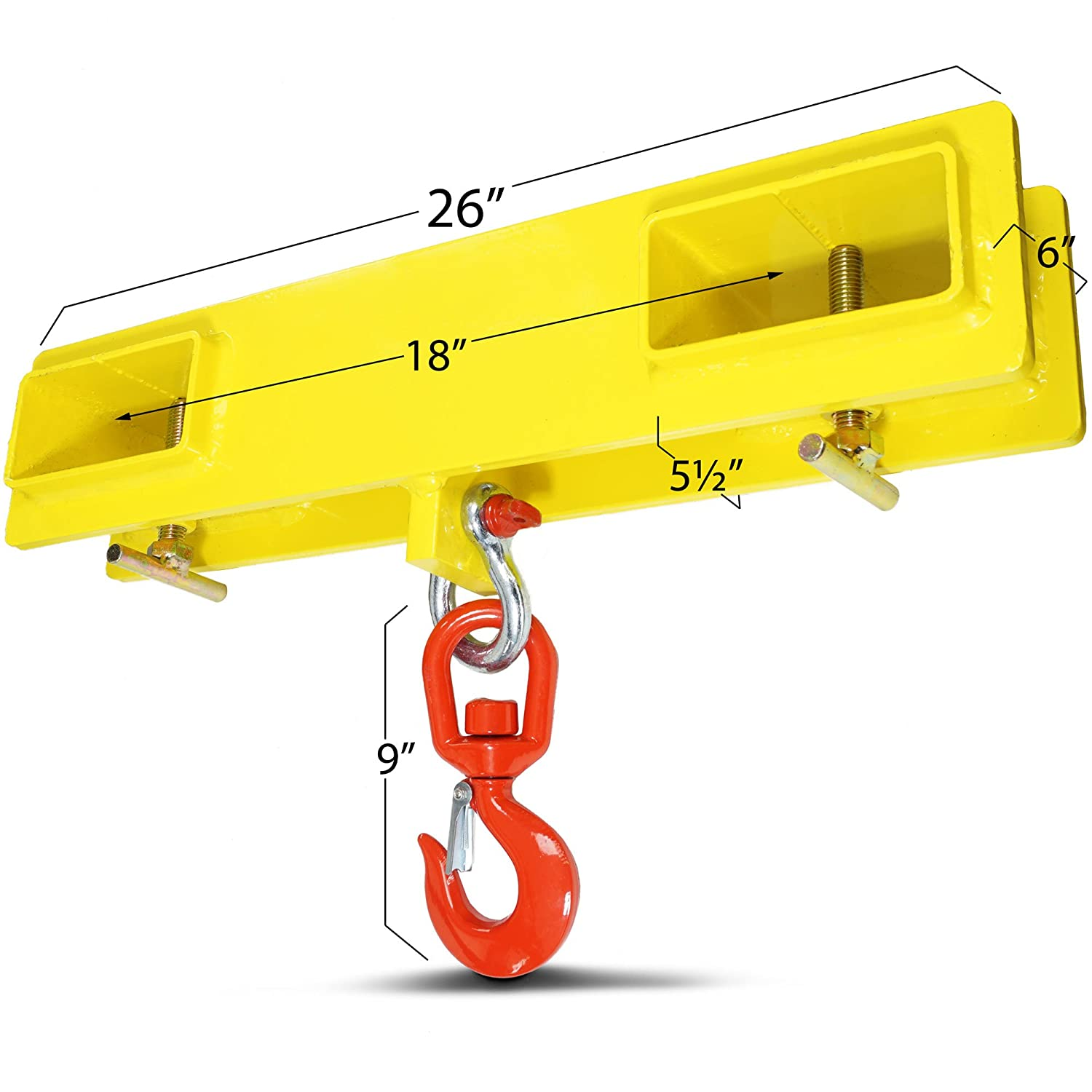 Titan Forklift Lifting Hoist Swivel Hook Mobile Crane 4000 lb  Capacity Lift