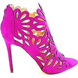 Tisha Cutout High Heel Open Toe Sandal Bold Purple