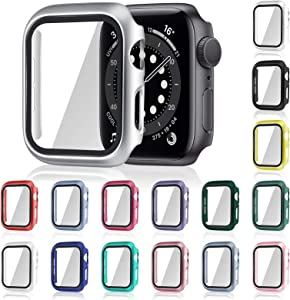 16 Pieces Watch Case Screen Protector Smart Watch Cover Iwatch Protective Case Matte PC Hard Cover Compatible with Smart Iwatch Series (44 mm)