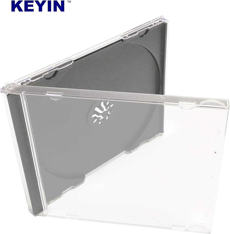 Premium KEYIN Standard Black CD Jewel Case 50 Pack