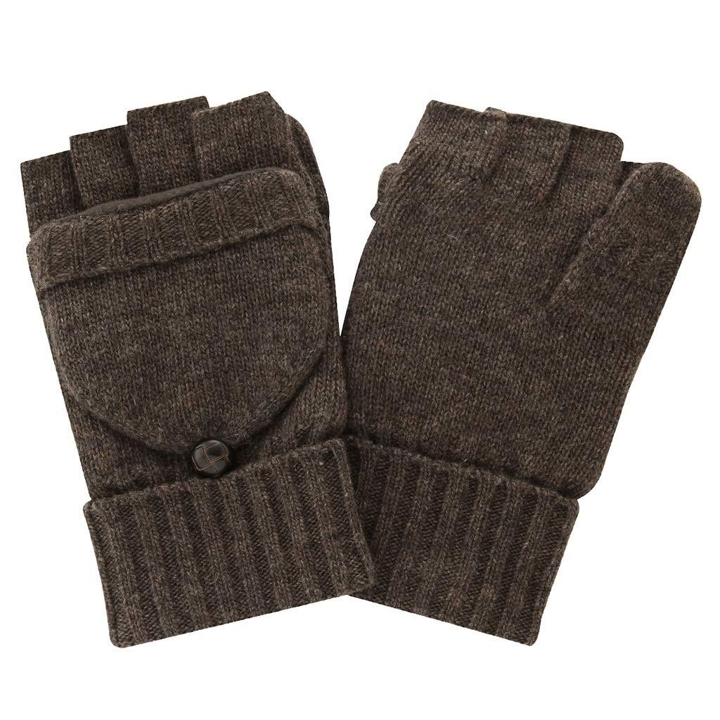 DSADDSD Winterhandschuhe Herren, Outdoor-Sportarten Reiten Half Finger Dual-Use-Handschuhe Warme Handschuhe