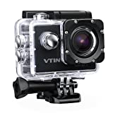 [1080P,12MP,170 Degree]WIFI Action Camera, VTIN Waterproof Camera Sports Action Camera with 2 1050mAh Batteries and Accessories Included for Bike Motorcycle Surfing Diving Swimming Skiing etc (Black)
