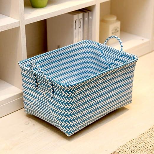 MYPNB Caja de Almacenamiento Sucios Cesta de Ropa del hogar Cesta del almacenaje, Ropa Juguete Snack, Material plástico, Siete Colores Opcionales (Color : C): Amazon.es: Hogar