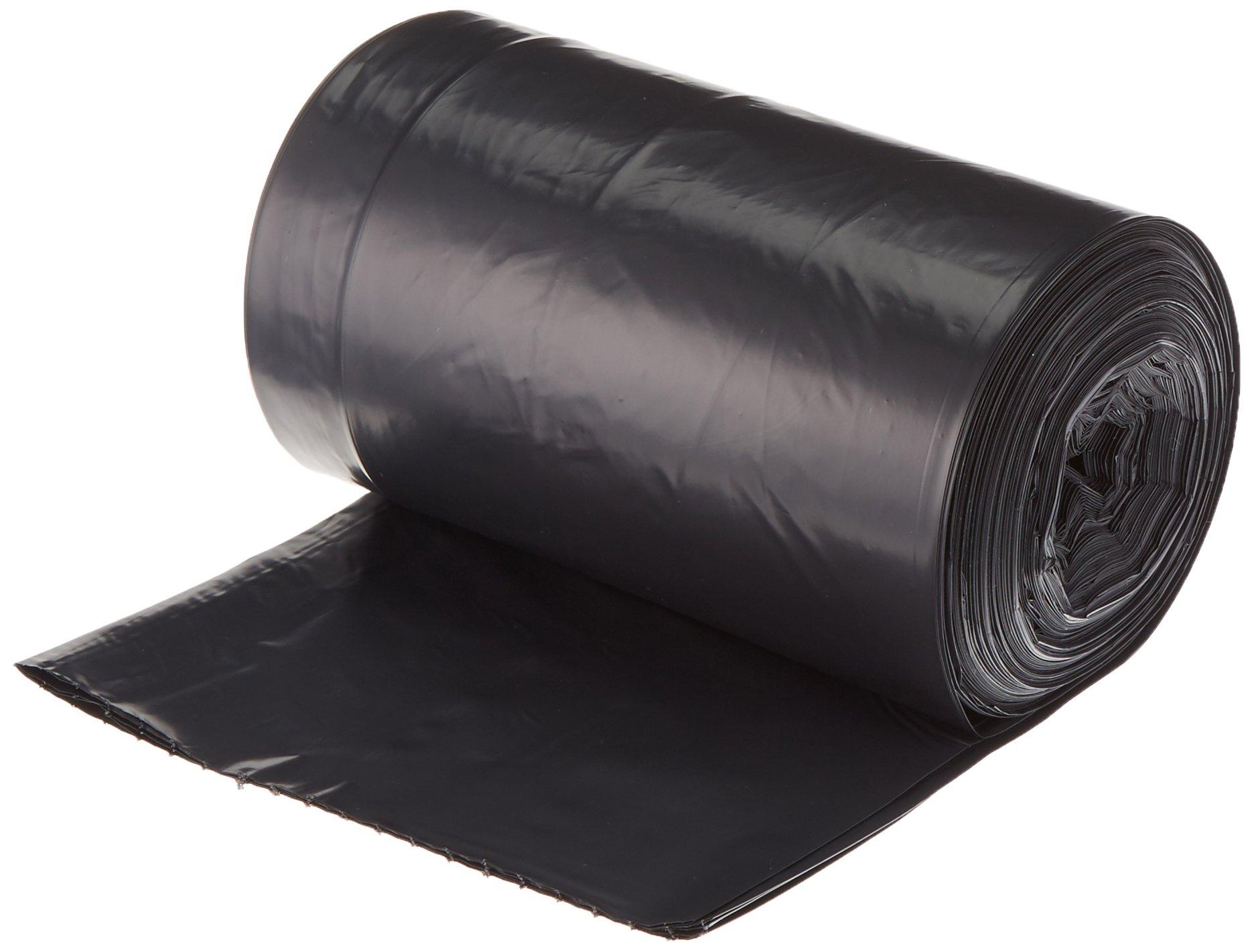 AmazonBasics 23 Gallon Slim Trash Can Liner, 1.6 mil, Black, 250-Count by AmazonBasics (Image #2)