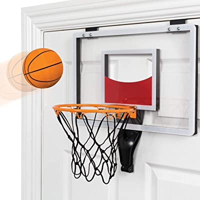 Funktion Deluxe Over The Door Basketball Hoop with Ball and Pump: Toys & Games