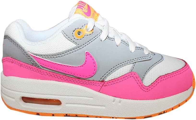 Nike Air Max 1 White Pink Kids Trainers