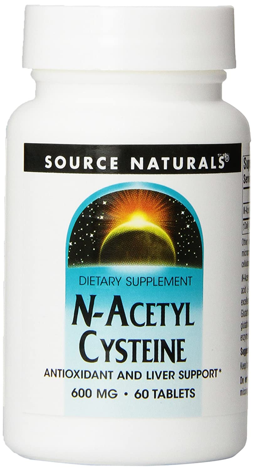 Amazon.com: Source Naturals N-Acetyl Cysteine 600mg, 30 Tablets (Pack of 2): Health & Personal Care