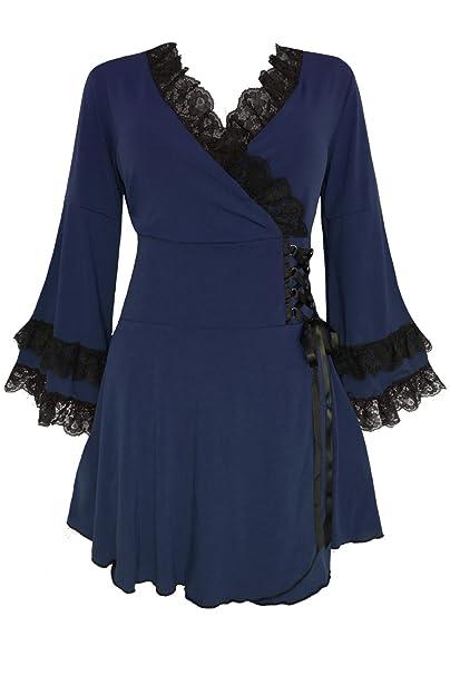 Dare to Wear Gothic Boho Women\'s Plus Size Victoria Corset Top