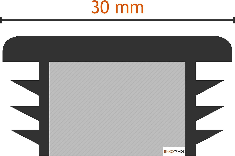 Endstopfen Rohrstopfen Quadratisch 16x16 mm Stopfen Enkotrade 4 St/ück Lamellenstopfen f/ür Vierkantrohre Kappen Rohrabdeckung aus hochwertigem Polyethylen Kunststoff Gleiter