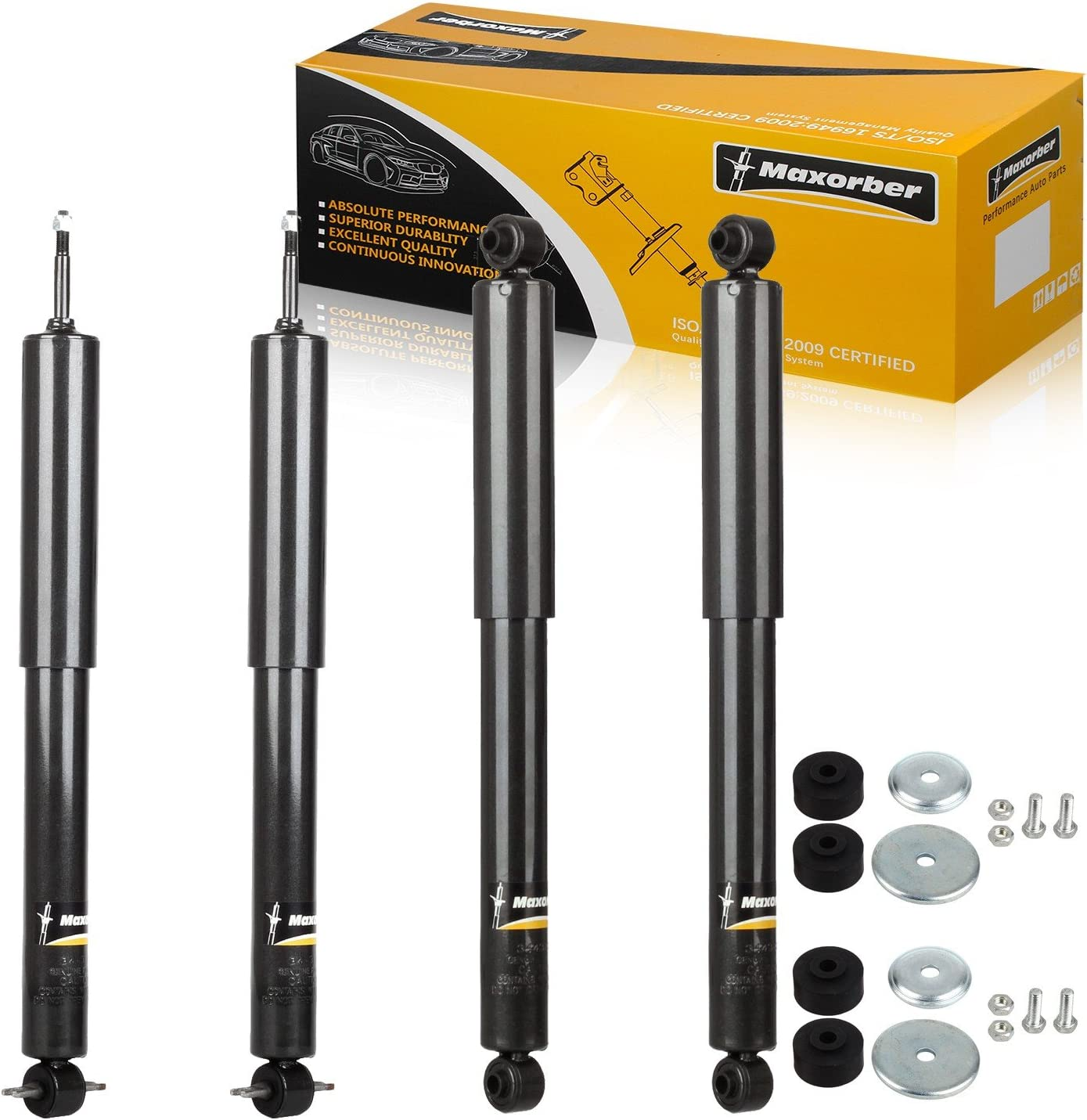 Maxorber Full Set Shocks Struts Absorber Kit Front Rear Set