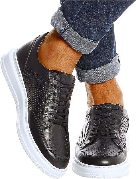 Leif Nelson Herren Schuhe Leder Freizeitschuhe elegant