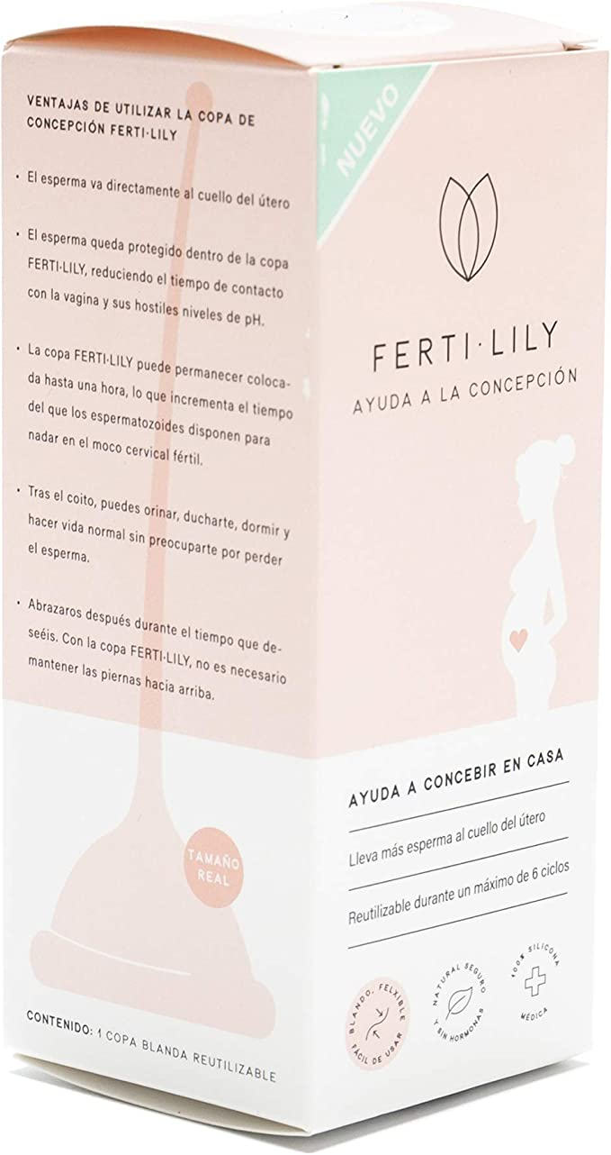 Pharmex - Fertilily - Copa De Concepción Para Mayor Control De La Fertilidad - Sin Hormonas - Reutilizable Hasta 6 Ciclos