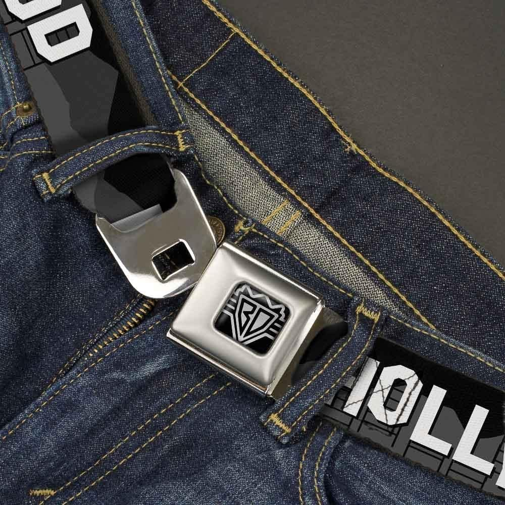 Sign Skyline Black//Grays//White Buckle-Down Unisex-Adults Seatbelt Belt Hollywood Regular 1.5 Wide-24-38 Inches