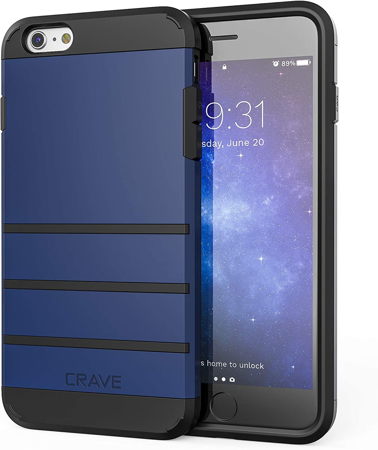 iPhone 6S Plus Case, iPhone 6 Plus Case, Crave Strong Guard Protection Series Case for iPhone 6 / 6s Plus (5.5 Inch) - Navy Blue