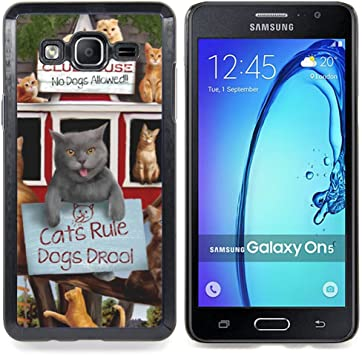 For Samsung Galaxy On5 O5 Case , Divertido gatito lindo gato Regla ...