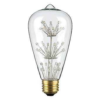 Crlight 3w Vintage Decorative Led Light Bulb 2200k Warm Color Amber Glow 30w