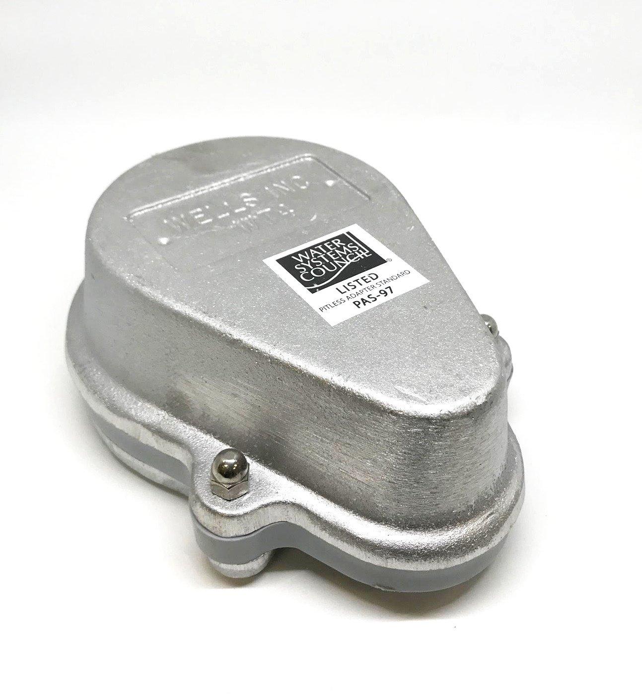Campbell Mfg WT4 4'' Aluminum Watertight Well Cap for 4-1/2'' OD Casings