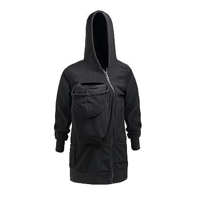 Aiffer Femme Maternité Hoodies Sweatshirts Bébé Laine Polaire Kangourou Rembourrée Grossesse Vêtements d'hiver Manteau Coat.