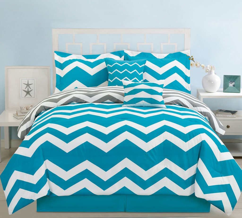comforter teal set charm king gorgeous