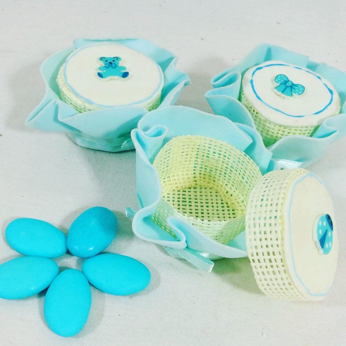 Sindy Celeste caja portaconfetti caja Bombonera de Letrero para bautismo cumpleaños nacimiento - 24 cajas + 1 paquete de Confetti ciocopassion al Leche Apr: ...