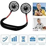 Portable Fan Hand Free Neck Fan Mini USB Personal Fan Wearable Sport Fan USB Desktop Fan, 3 Speeds, USB Rechargeable…